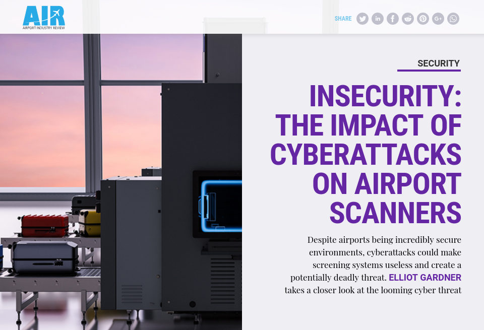 Insecurity: the impact of cyberattacks on airport scanners
