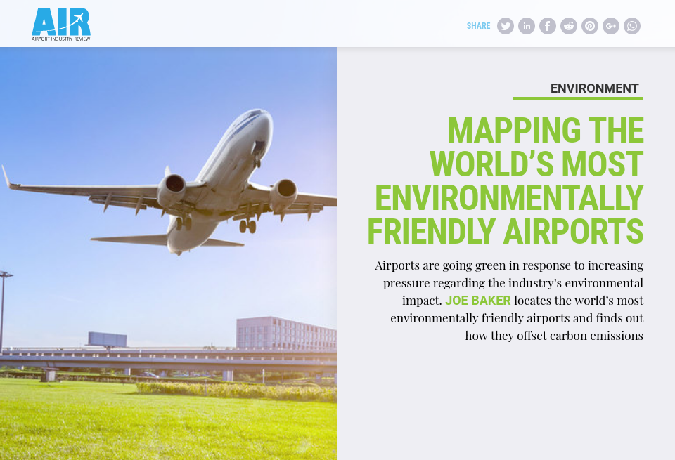 Mapping the world's most environmentally friendly airports